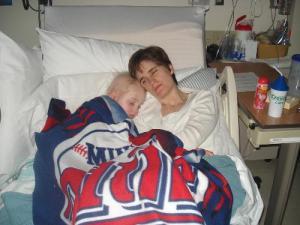 Cam cuddling with Mom