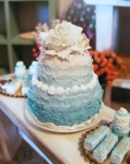 "Ombre ""Tiffany Blue"" Wedding Cake by OSS"