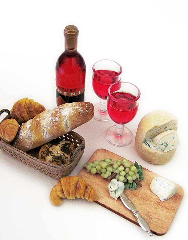 1:6 Scale Wine & Cheese Set by OSS