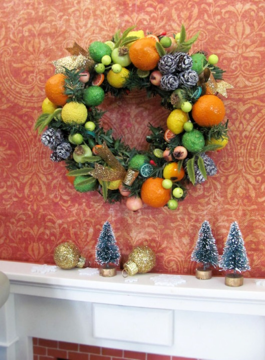 1:6 Scale Citrus Wreath by OSS Available on Etsy!